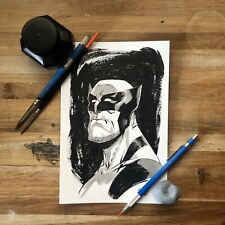 Wolverine 6x9 Head Sketch Original Comic Art Marvel