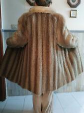 Abrigo largo, piel de mapache, cuello de zorro polar, talla 42-46