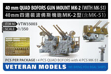 Veteran Models 1/350 40mm Quad Bofors Gun Mount Mk.2