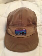 Patagonia Retro Fitz Roy Label Tradesmith 5 Panel Hat Cap - Brown Green
