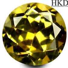 1.39 ct HKD-certified Unheated Natural Round-cut AAAAA Yellow IF Tanzanite
