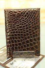 AUSWEIS-ETUI KRALLE - Echtes Kroko Leder! (IRV) NEU Wallet crocodile NEW 890