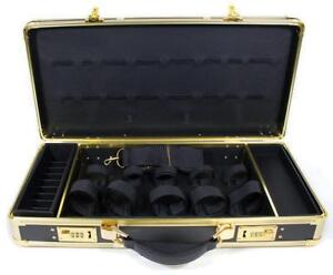Hairart Black & Gold Barber Stylist Lock Case Organizer Clippers Trimmers Tools