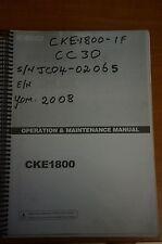 Kobelco Operation & Maintenance Manual CKE1800