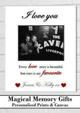 I love you personalised photo valentines day gift A4 print husband boyfriend
