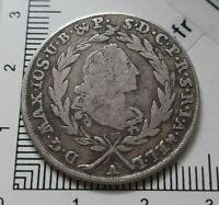 G01107 monnaie royale 20 kreuzer Maximilien 1767 A Bavière Allemagne argent