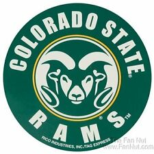 "Colorado State Rams PV White 4"" Round Decal Bumper Sticker CLR University of"