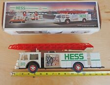 Hess Toy Fire Truck Bank with Lights and Extending Ladder