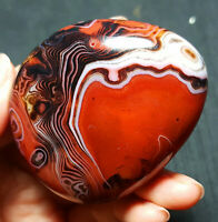 TOP 84.5G Natural Polished Banded Agate Crystal Madagascar Healing WQ903