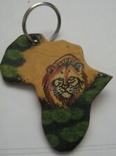 Africa Lion Leather Key Ring