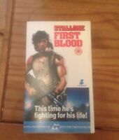 VHS Video - First Blood - Rambo - Part 1