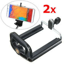Universal Adjustable Clip Bracket Holder Tripod Adapter Mount for Cell Phones 2X