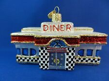50's Diner Old World Christmas Ornament Glass Blown Food Chef Snack NWT 20071