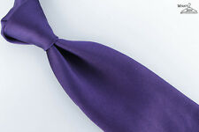 "NEW Piombo Purple Unlined 3.5"" Wide Silk Tie"