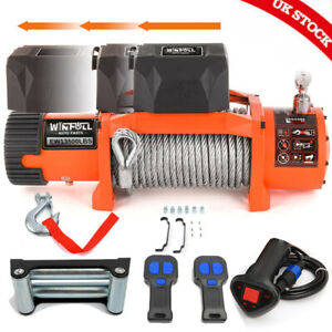 Electric Winch 13500lb Stealth 12v Steel Rope Wireless Recovery 4x4 Heavy Duty