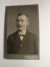 Liestal Schweiz - Mann mit Bart im Anzug - Portrait / CDV