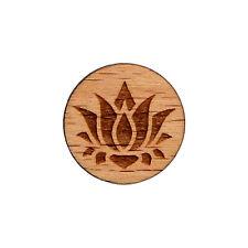 Lotus Flower Wood Lapel Pin