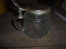 Bierseidel Bierkrug Glas Original BMF mit Zinndeckel