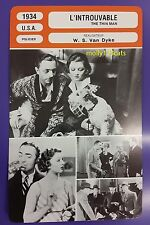 US Comedy Mystery The Thin Man William Powell Myrna Loy French Film Trade Card