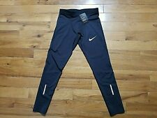 Mens Nike Power Dri Fit Black Base Layer Running Pants Nwts