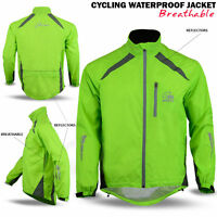 Cycling Waterproof Jacket Rainproof Breathable High Hi Visibility Vis Viz Yellow