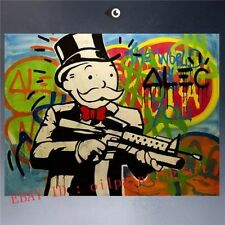 Alec monopoly 3 HUGE OIL PAINTING MODERN ABSTRACT WALL DECOR ART CANVAS(Unframed