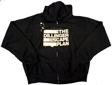 DILLINGER ESCAPE PLAN Zipper Hoodie Sweatshirt Full Zip Hoody Adult XL New Men