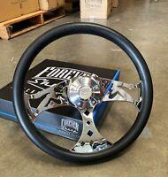 "380mm Chrome Mudflap Steering Wheel Polyurethane (15"") - 5 Hole Chevy GMC C10"