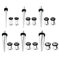 BodyJ4You 18PC Gauges Kit Ear Stretching 14G-00G Tapers Tunnels Piercing Set