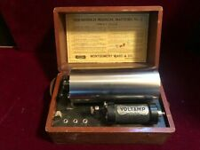 "Voltamp Battery No. 6 ""Montgomery Ward  Antique Electrotherapy Device CHICAGO IL"