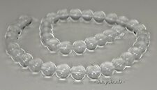 10MM  ROCK CRYSTAL GEMSTONE GRADE AA ROUND LOOSE BEADS 7.5""