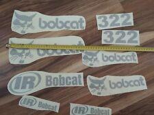 bobcat aufkleber sticker bagger excavator Satz