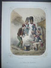 GRAVURE 1880 LE BATON DE MARECHAL  LITOGRAPHIE