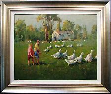 Gian-Piero Garizio original acrylic titled 'Which Goose'.Australian painting