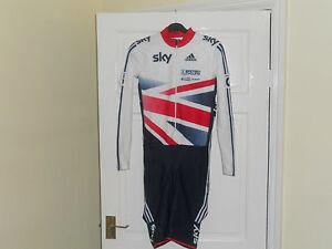 Adidas Team GB Rider Issue CX Cyclocross cycling bike XS S M L skinsuit SKY BIKE