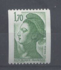 FRANCE TIMBRE ROULETTE 2321a N° rouge au verso LIBERTE vert - LUXE **