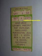 The Outlaws Concert Ticket Stub 1979 Charleston Sc Gaillard Auditorium Very Rare