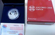 Año 2004. 10 EUROS DE PLATA. ESPAÑA. XACOBEO 2004 - Galicia.