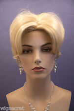 Short to Medium Length Blonde Straight Layered Bob Style Wigs