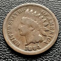 1864 Indian Head Cent 1c One Penny ROTATED DIES 45° Circulated #3557