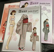 """""""ANNZ"""" 4 page magazine paper doll by Siyi Lin  2009"""