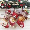 Xmas Tree Hanging Ornament Christmas Party Decor Santa Claus Sock Candy Gift Bag