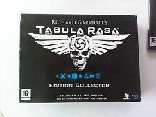 Tabula Rasa edition collector incomplet PC boite carton FR (sans jeu/nogame)