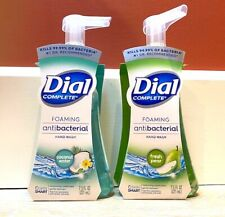 Lot of 2 DIAL Complete Foaming Fresh Pear/Coconut Water HAND SOAP ANTIBAC 10 oz