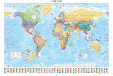 World Map 2015 Maps Educational Maxi Poster Print 61x91.5cm | 24x36 inches