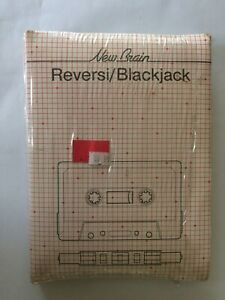 Grundy Newbrain Reversi / Blackjack Cassette -  New / Sealed