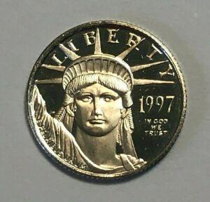 1997 $10 US 1/10th oz .9995 Proof Platinum Eagle Coin