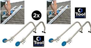 2x Pairs of Universal Roof Hook Kit Aluminium Extension Ladder Fixings (4)