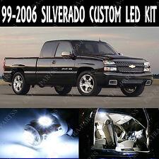 16 x Xenon White LED Lights Interior Package Kit For 1999-2006 Chevy Silverado