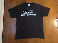 EXTREMELY RARE Nintendo Tech Support Employee Brown T-Shirt 2004 Gamecube Large